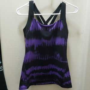 Lucy Criss Cross Back Workout Tank, size M
